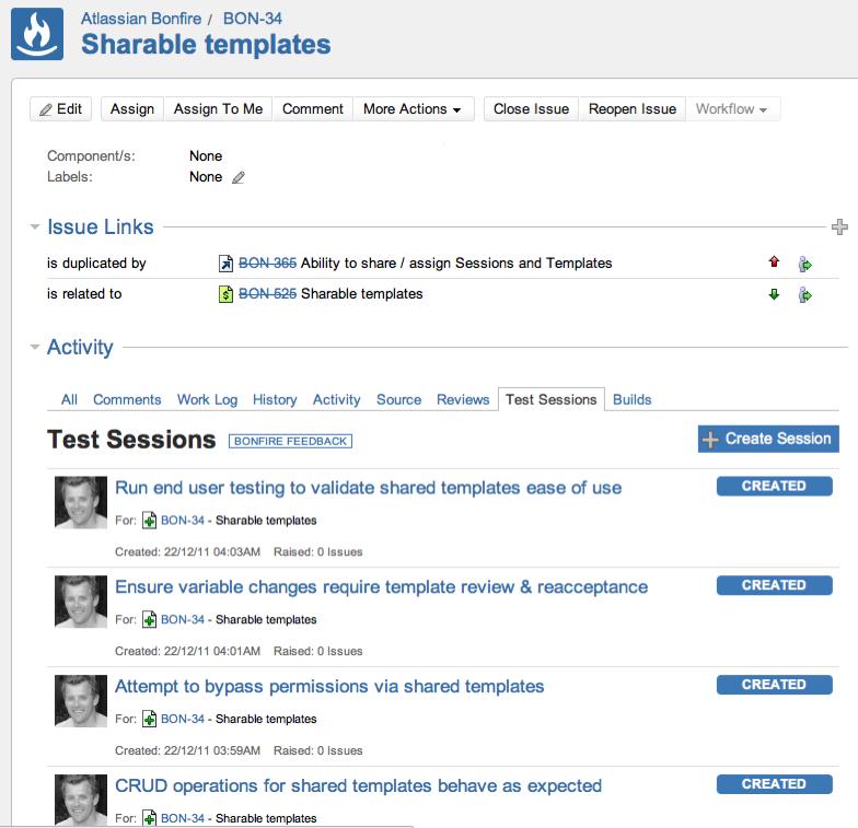 Sessions de tests ajoutées pendant la réunion de planification