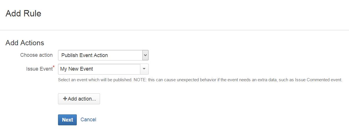 Publish Event Action