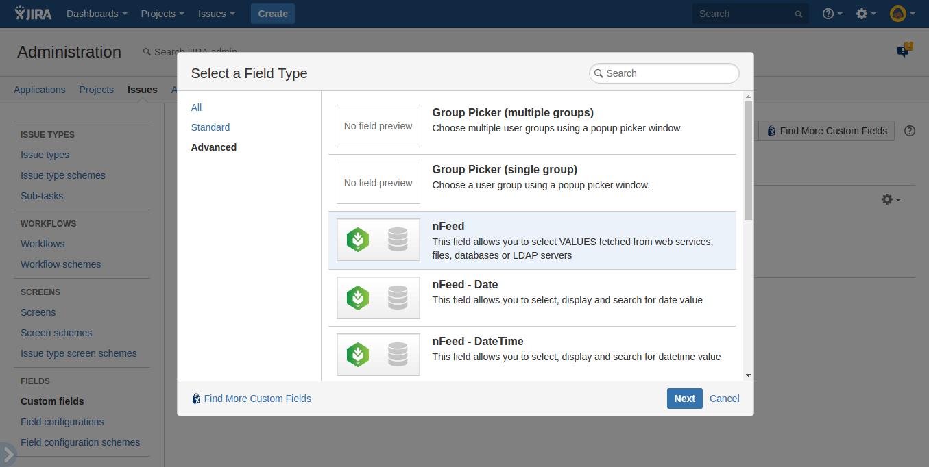 Create nFeed field